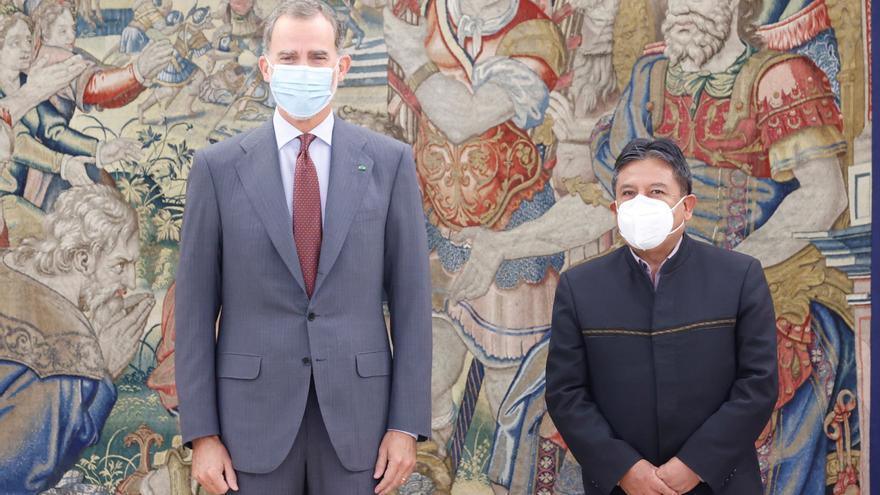 El Rey recibe en Zarzuela al vicepresidente de Bolivia al comienzo de su visita a Madrid