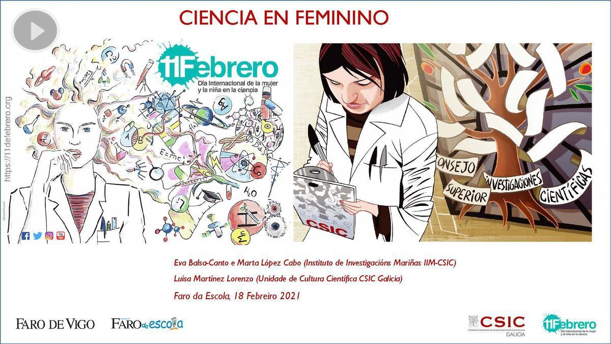 Cartel de Ciencia en Femenino