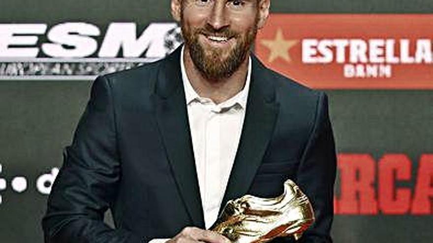 """Messi: """"Sin mis compañeros no hubiera ganado esta Bota de Oro"""""""