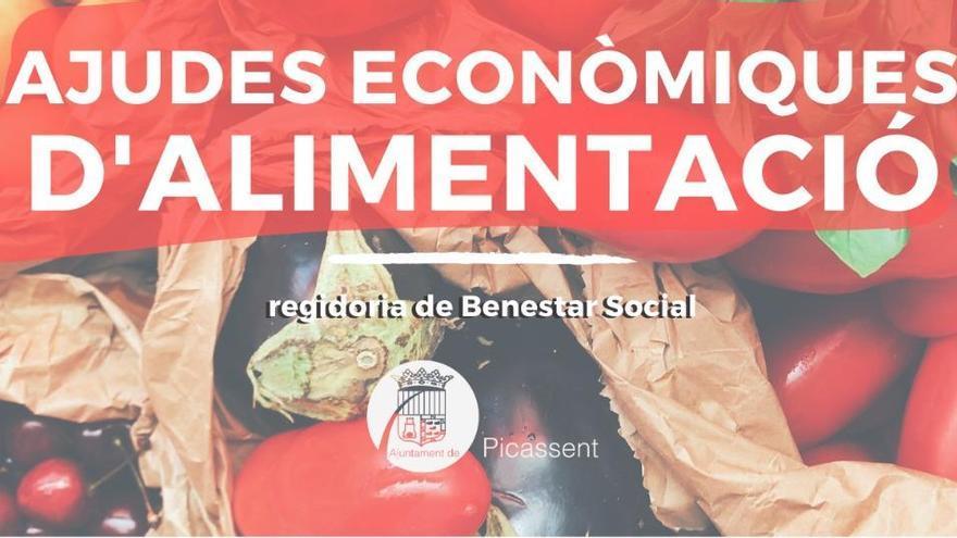 Picassent destina 45.000 euros en ayudas económicas de alimentación