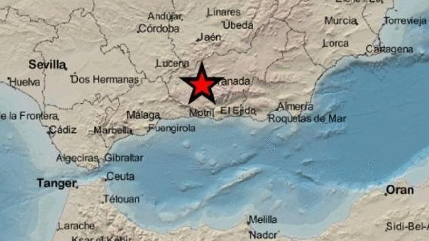 Varios terremotos con magnitudes de 4,1; 4,3 y 4 sacuden el área metropolitana de Granada