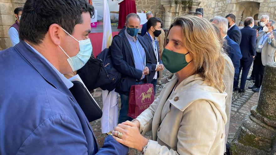 El alcalde de Nules aborda a la ministra Ribera para pedirle los espigones para sus playas
