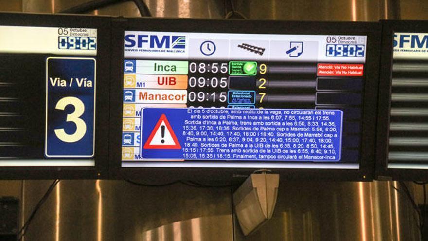 Der Bahn-Streik auf Mallorca ist ausgesetzt