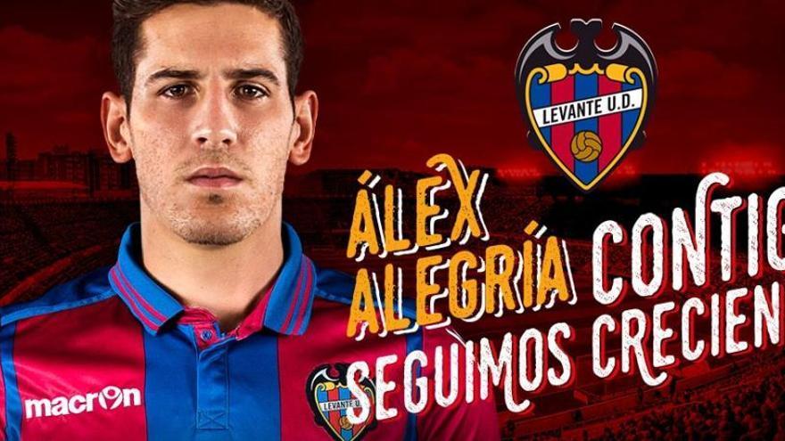 El delantero Álex Alegría llega al Levante cedido por el Betis