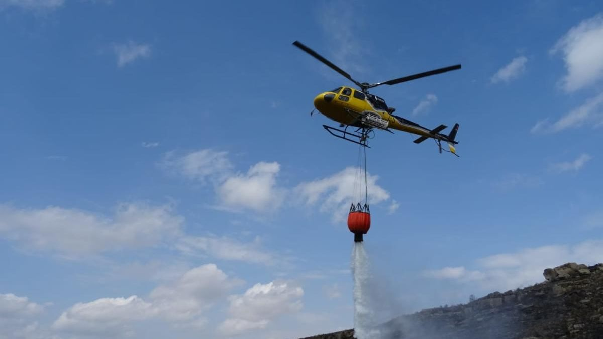 El domingo se salda con cinco incendios en Zamora