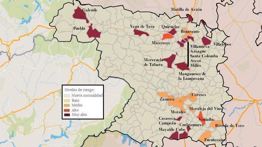 Mapa de coronavirus de Zamora, hoy, martes | Toro, oficialmente libre de virus