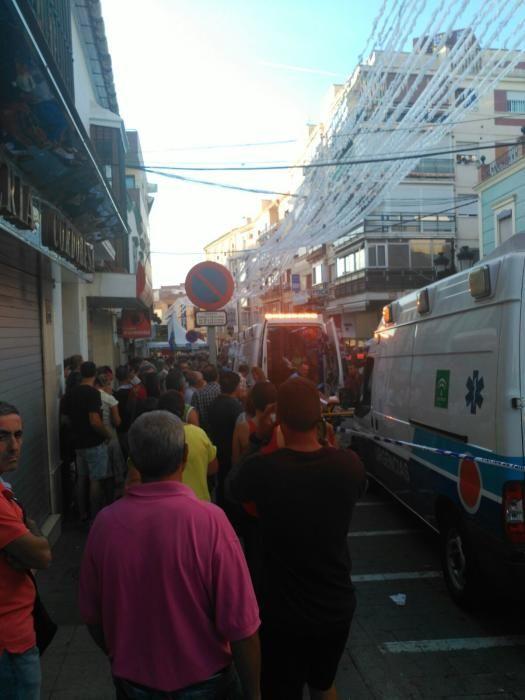 Explosión en el centro de Vélez-Málaga
