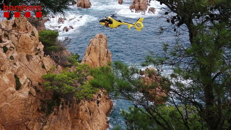 Rescaten una persona a la via ferrata de Sant Feliu de Guíxols