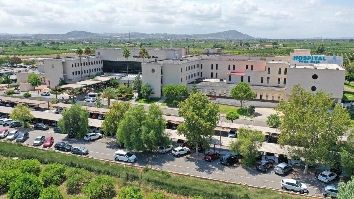 Vista aérea del Hospital de la Vega Baja en Orihuela