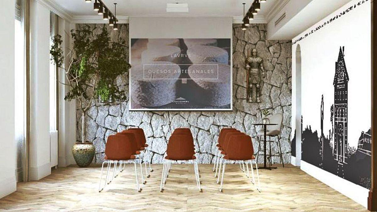 Imagen de una de las estancias del Centro de Zamora en Madrid.