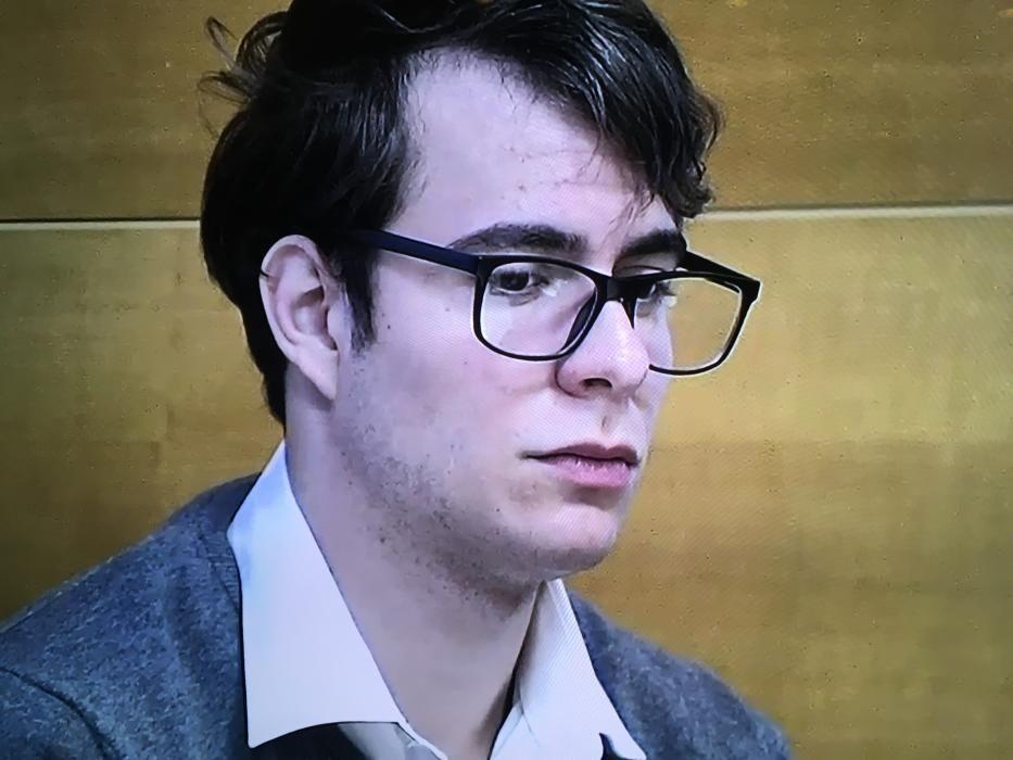 El acusado del crimen de Pioz, durante el juicio