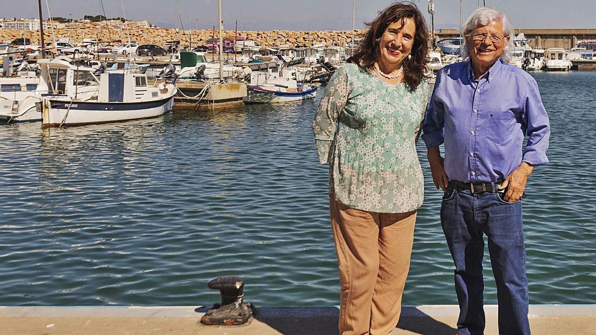 Lurdes Boix i Lluís Roura, al port de la Clota de l'Escala