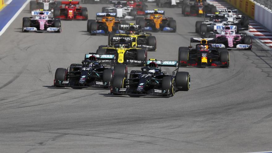 Bottas se lleva la victoria en el GP de Rusia por delante de Verstappen y Hamilton
