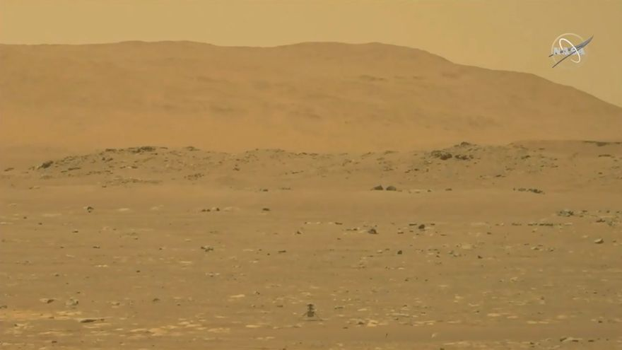El helicóptero Ingenuity vuela por primera vez sobre Marte