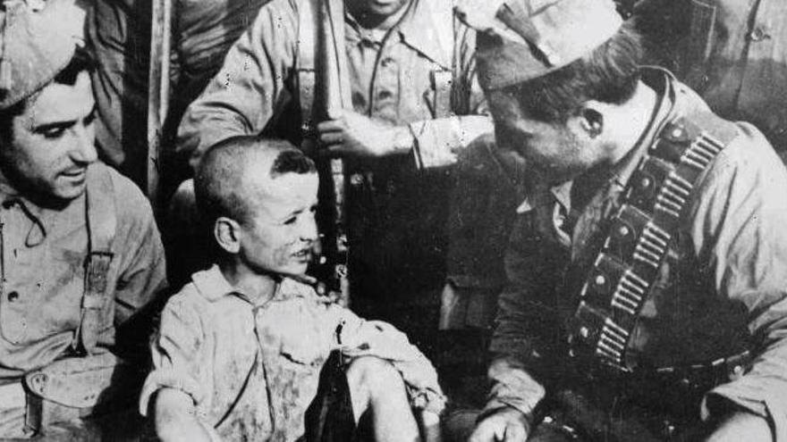 En busca del niño perdido en la guerra
