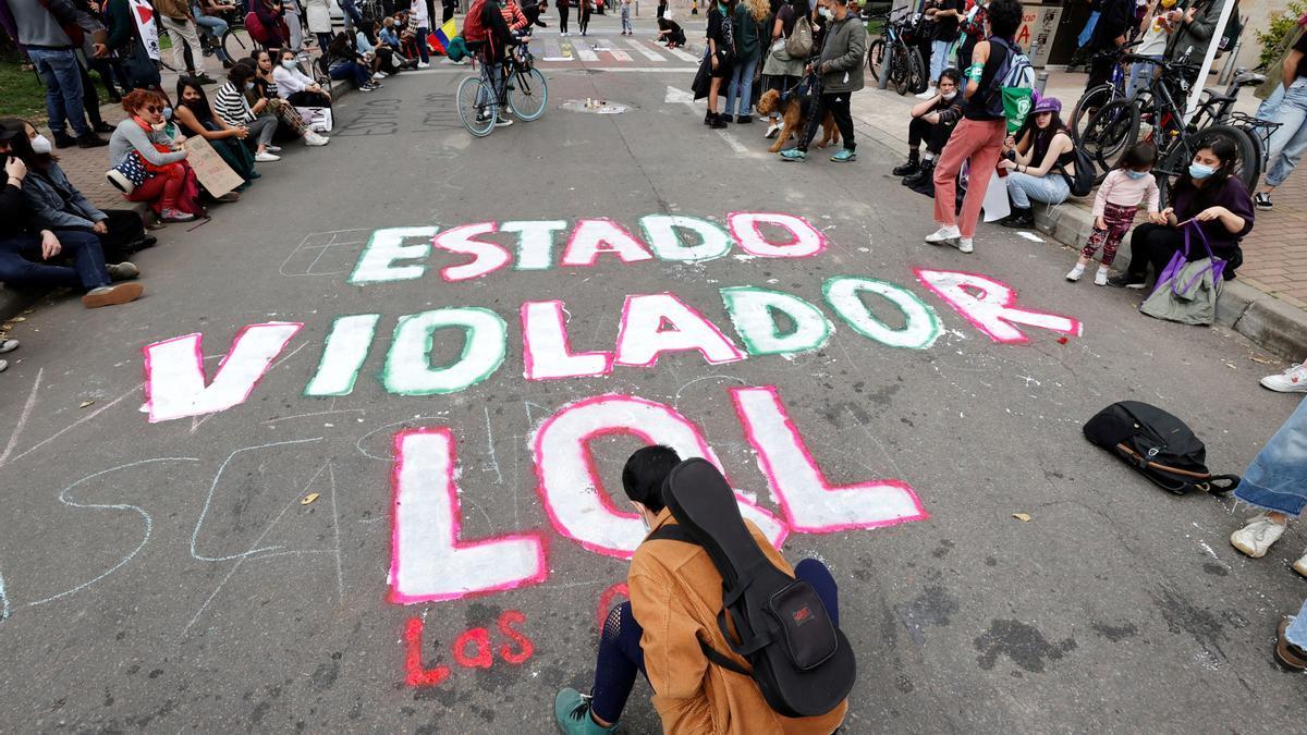 Manifestación contra los abusos policiales en Colombia