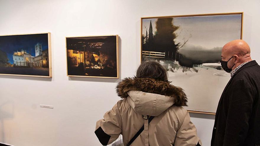 Pintura colectiva de invierno en la sala zamorana Espacio 36