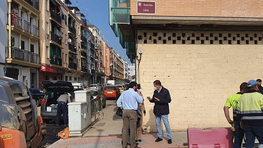 """David Dorado sobre la obra de la avenida de Libia: """"Robaron el cobre y tuvimos que abrir una zanja"""""""