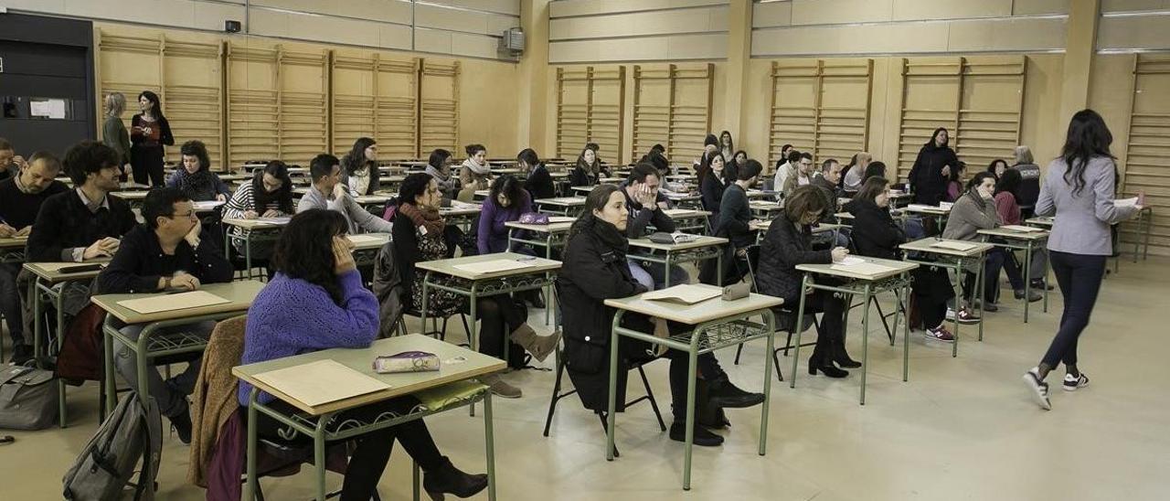 Sala donde se realizaron pruebas de oposiciones docentes.