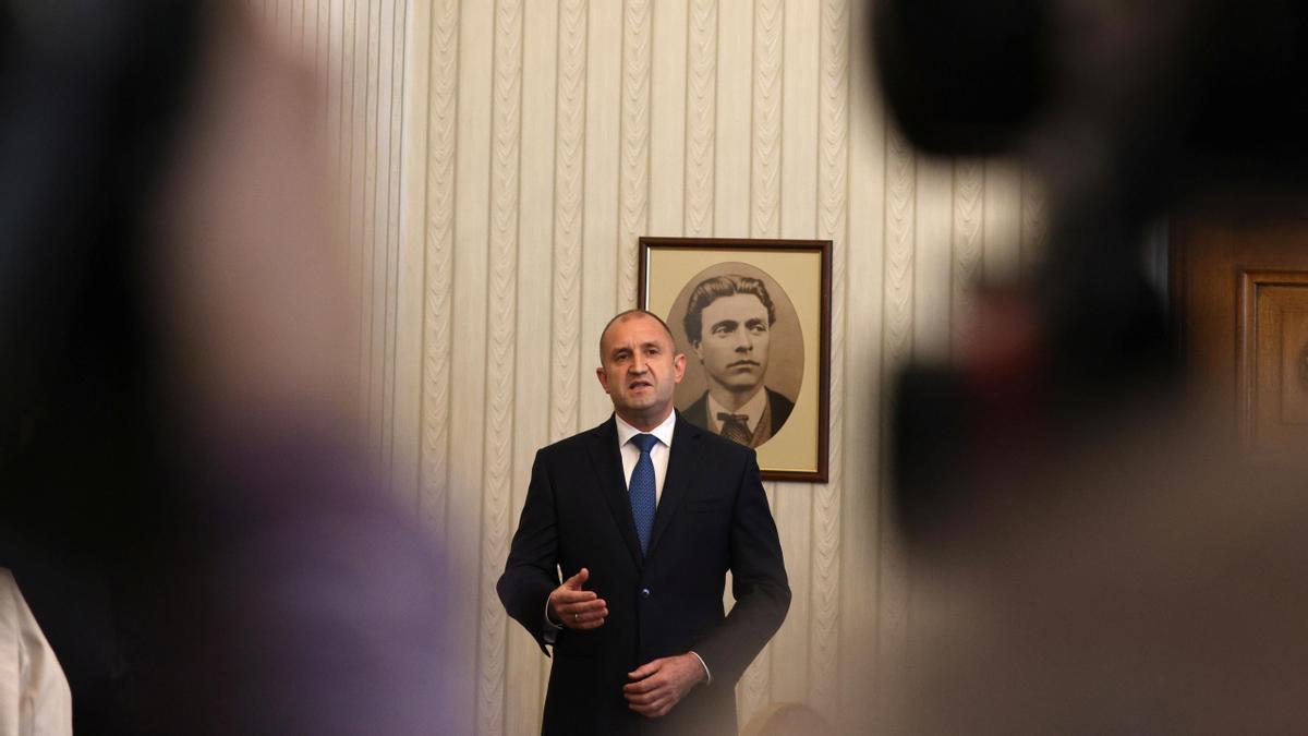 El presidente, Rumen Radev.
