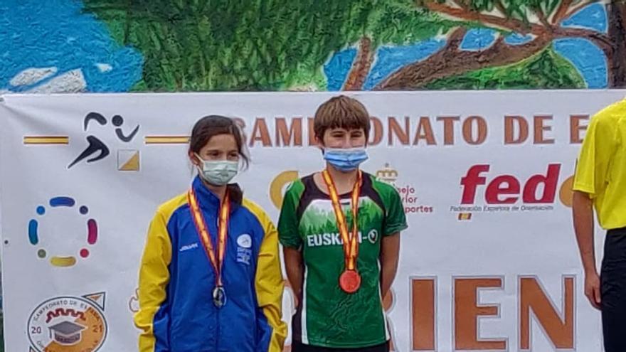 La naveta Marta Villa, campeona de España infantil de Orientación