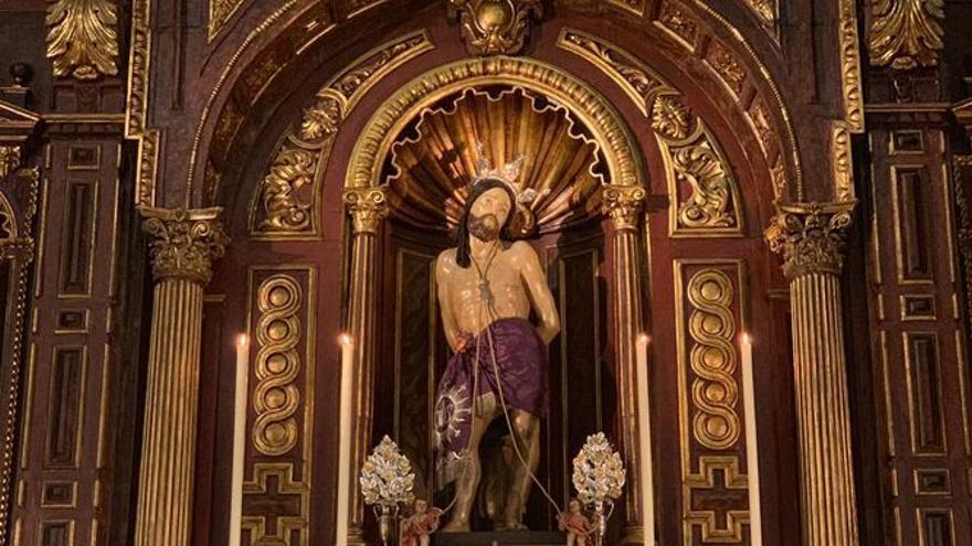La Agrupación prepara el vía crucis de este viernes presidido por el Santo Cristo de la Salud
