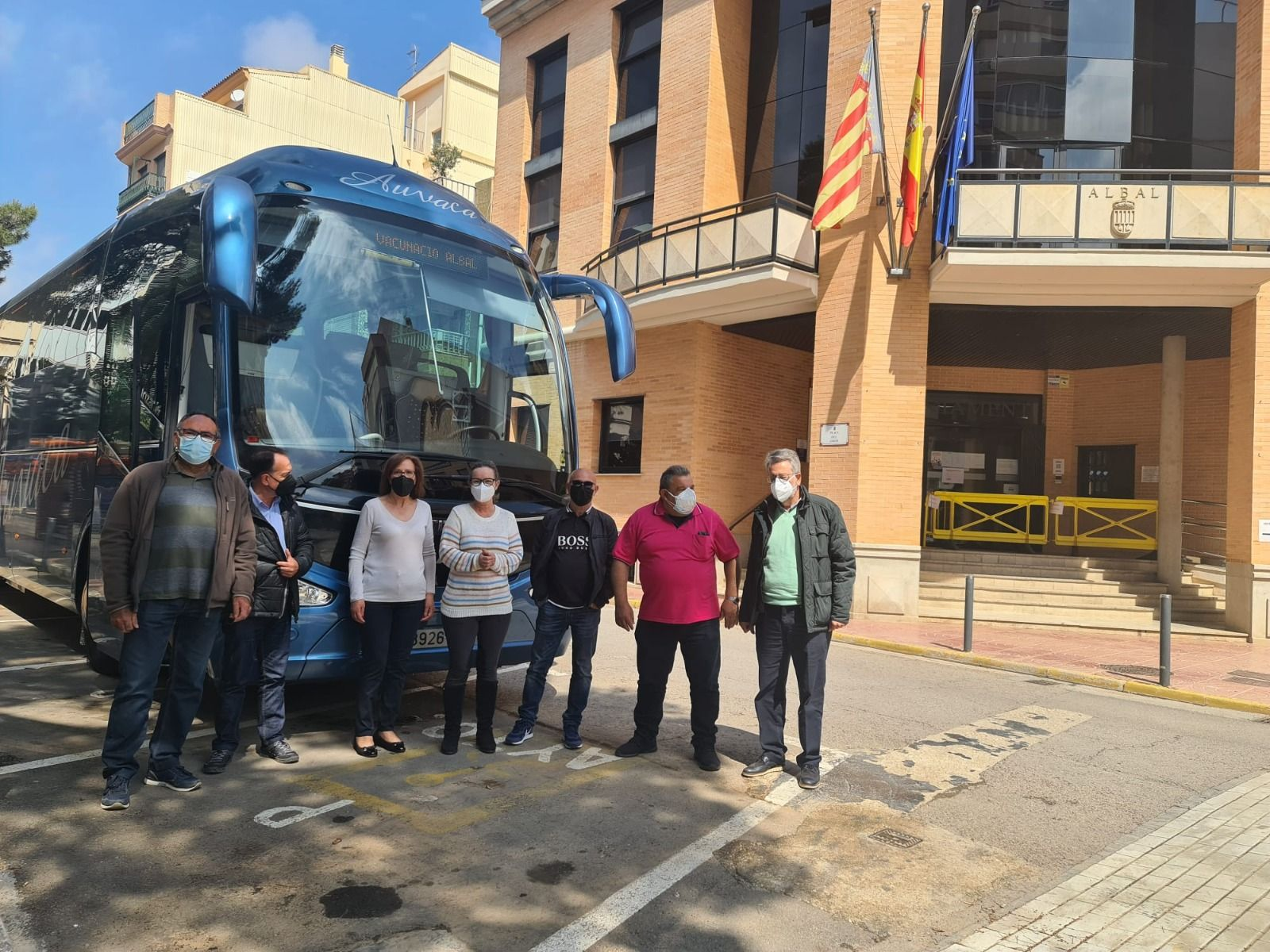 Comitiva de Albal en el primer viaje.