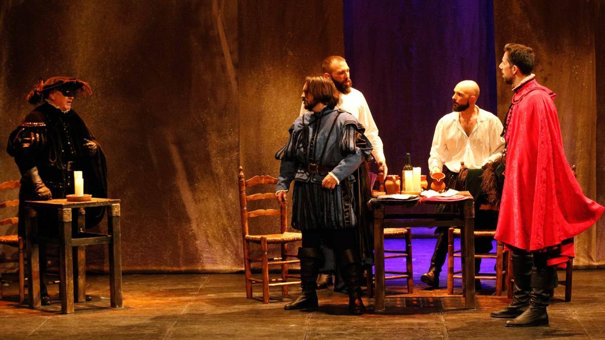 Una escena del Don Juan Tenorio de La Tijera, en el Teatro Principal