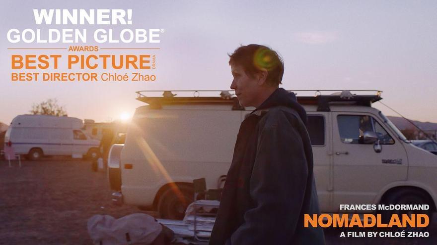'Nomadland', mejor película en los Globos de Oro