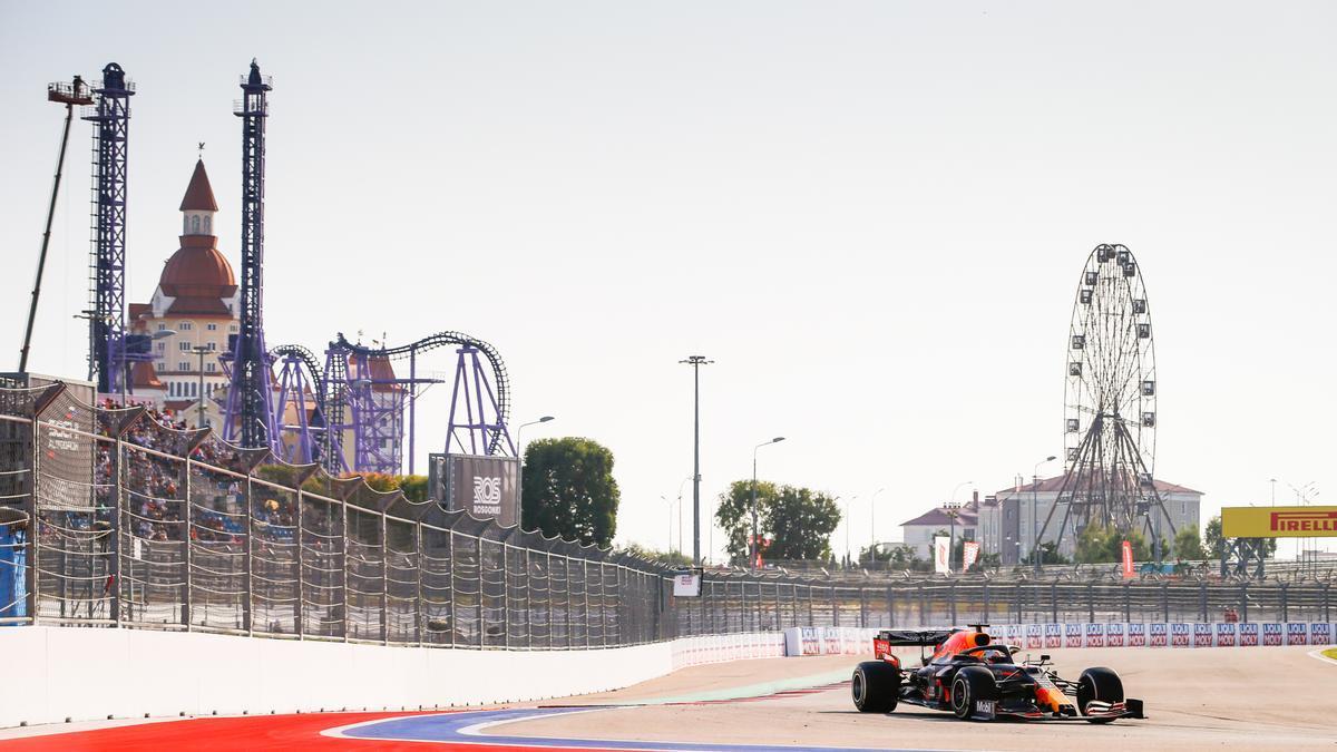 Max Verstappen en el Gran Premio de Rusia de 2020.