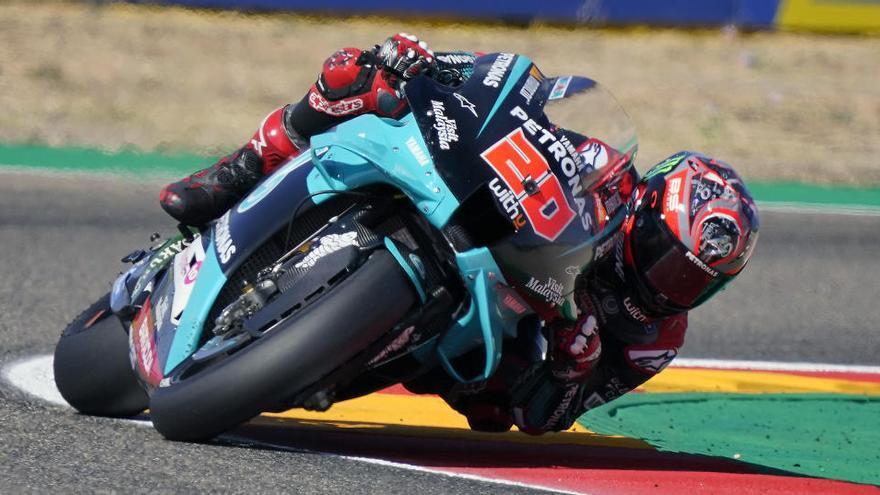 Quartararo, del hospital a la 'pole' de MotoGP en Aragón