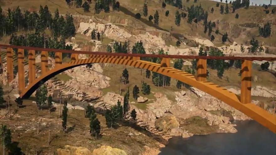 El nuevo puente de Alcántara convivirá con el romano y tendrá una pasarela peatonal