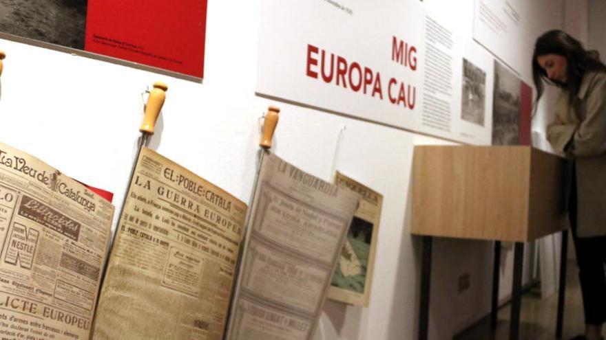 El Palau Robert mostra la mirada de Josep Pla sobre la Primera Guerra Mundial
