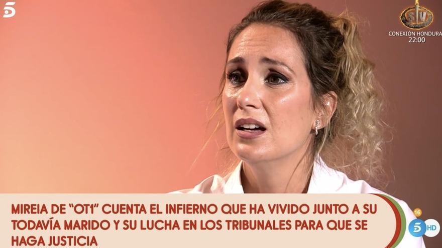 """Mireia ('OT 1') habla en 'Sálvame' tras denunciar a su marido: """"Estaba muy machacada"""""""