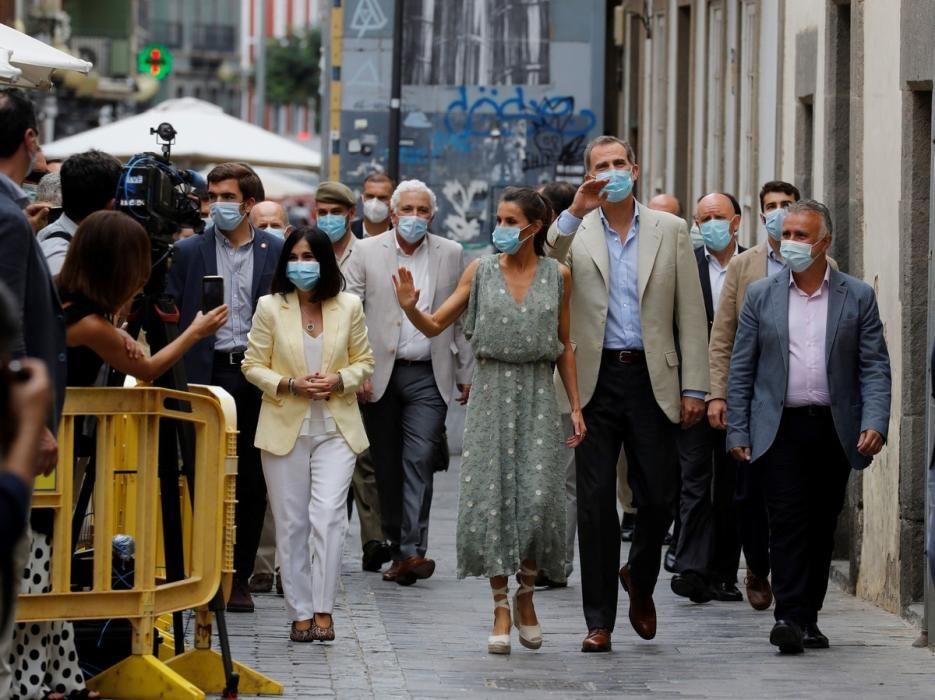 Los reyes de España visitan Gran Canaria.