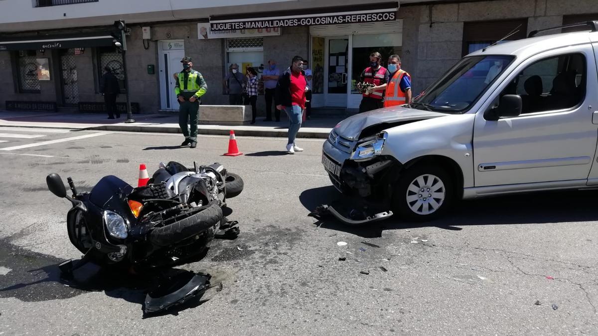 Estado en el que quedaron los vehículos implicados en el accidente