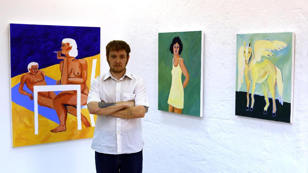 Maiky Maik en la presentación de 'Mudanza' en la galería Antonia Puyó.