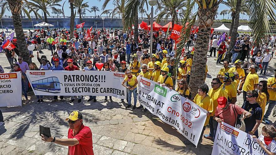 Los sindicatos exigen combatir la temporalidad  balear en el 1 de Mayo