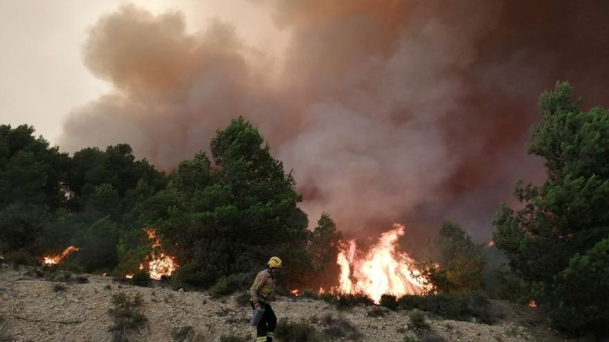 Un incendio en Tarragona salta a Barcelona con un frente de 10 km