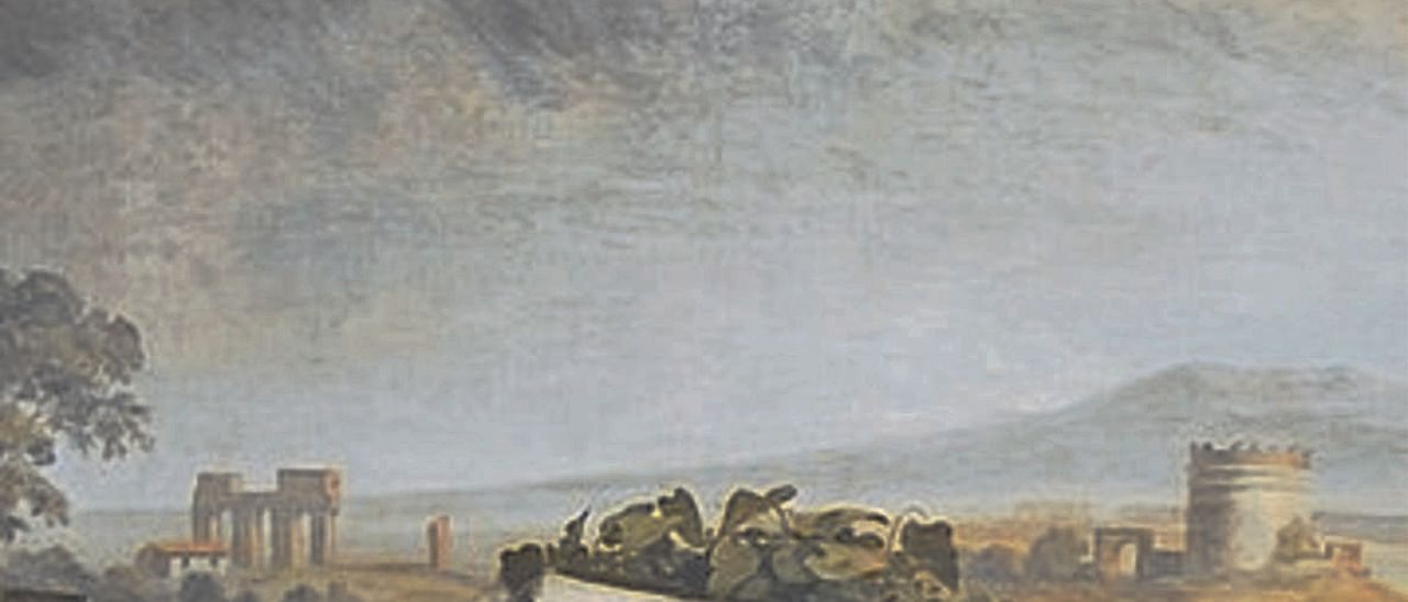 «Goethe en la campiña romana», óleo del alemán Johann Heinrich Wilhelm Tischbein en 1787.