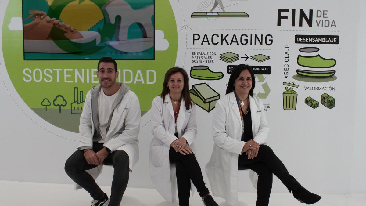 Los técnicos del proyecto de economía circular de los tres institutos tecnológicos.