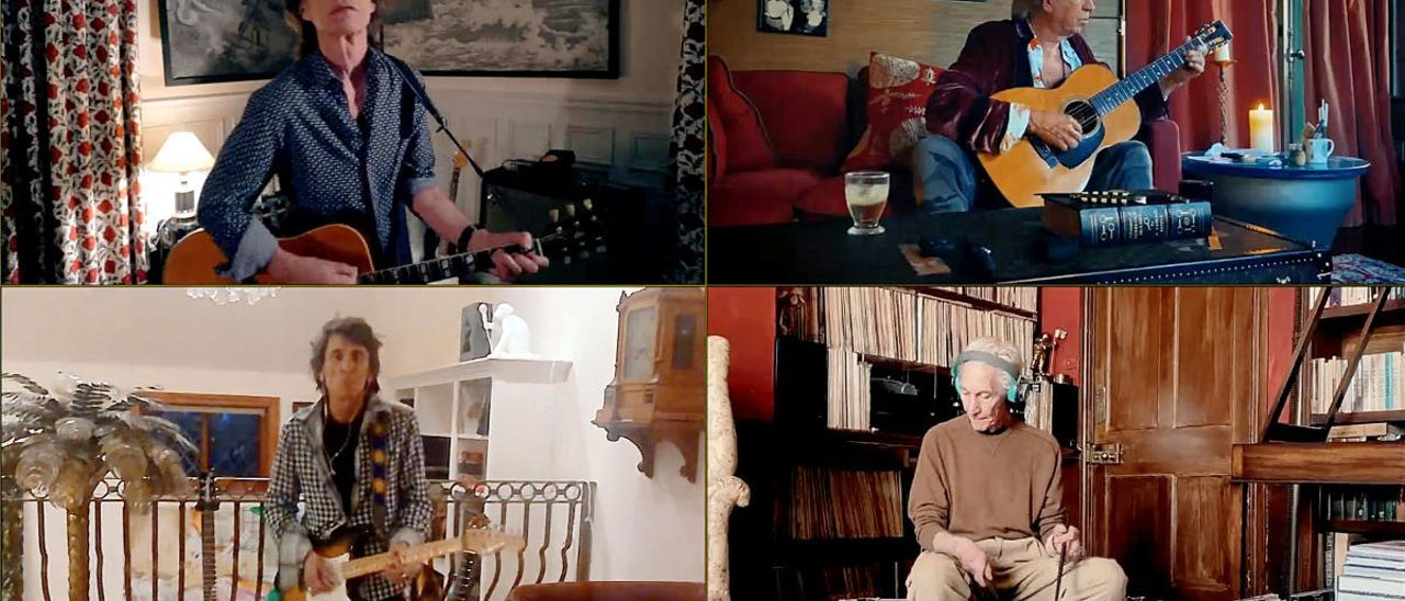 """""""The Rolling Stones"""", durante su actuación en el festival online """"One World: Together at Home"""""""