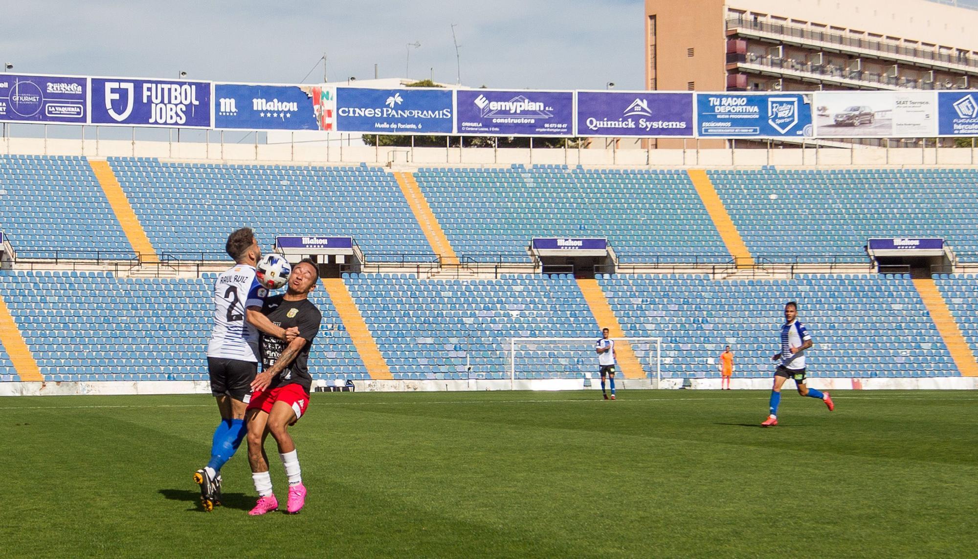 Las imágenes del partido Hércules - Peña Deportiva