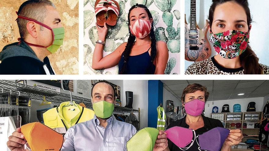 So kreativ können Atemschutzmasken von Mallorca sein