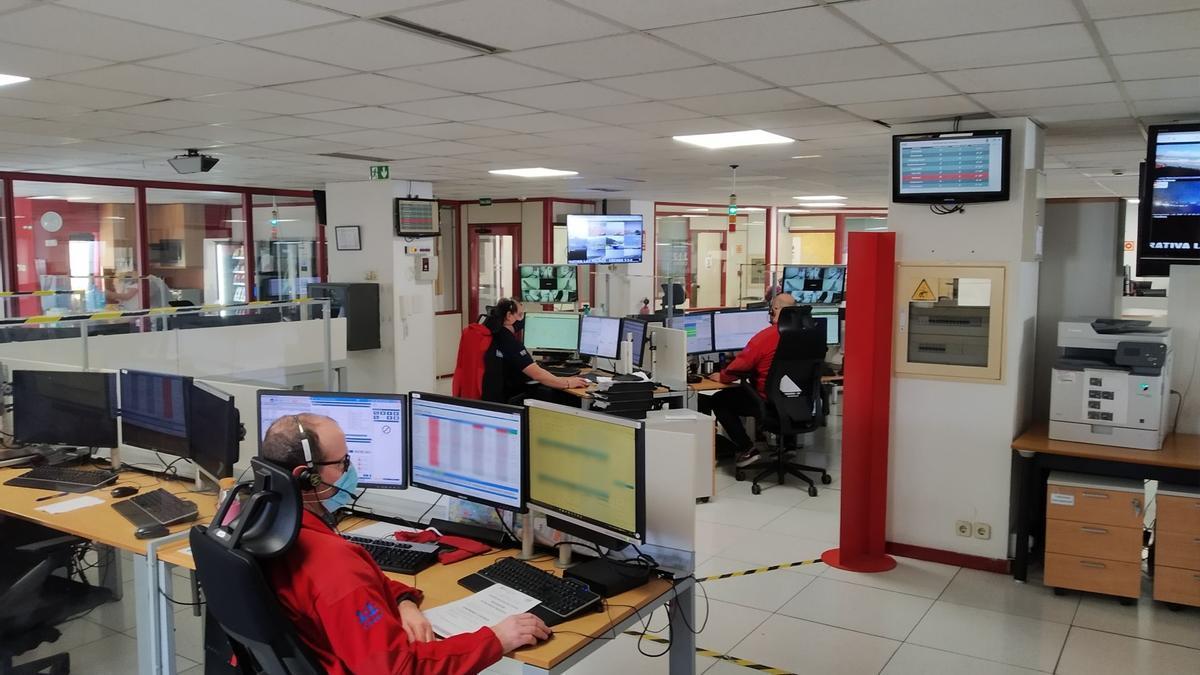 Sala operativa del 1-1-2 en Canarias