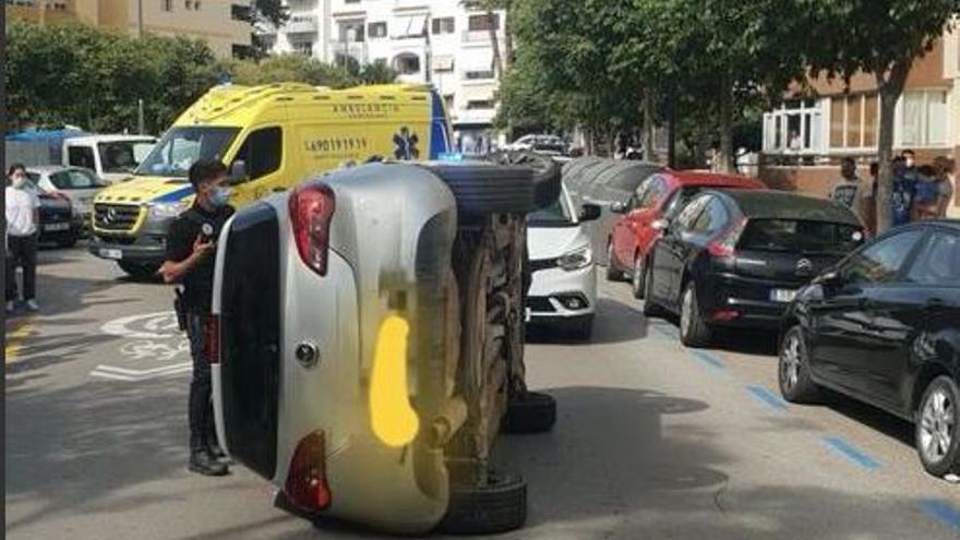 Detenido un hombre en Ibiza tras robar un coche con el que sufrió un accidente