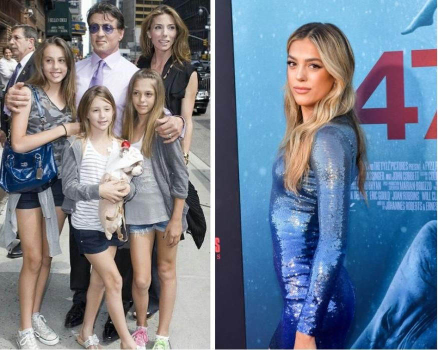 Una de las hijas de Sylvester Stallone. Tiene cinco, tantos como entregas de Rambo ha hecho (de momento).