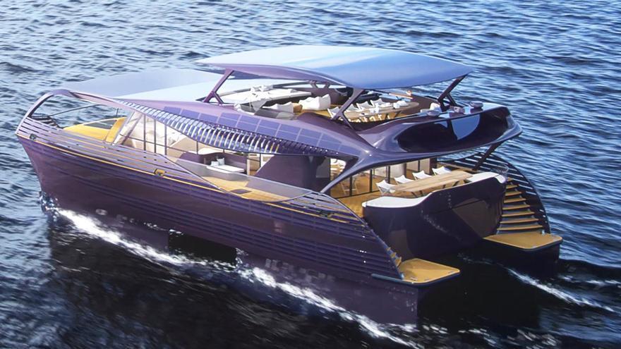 ¿Te atreverías a navegar en este yate solar de lujo?