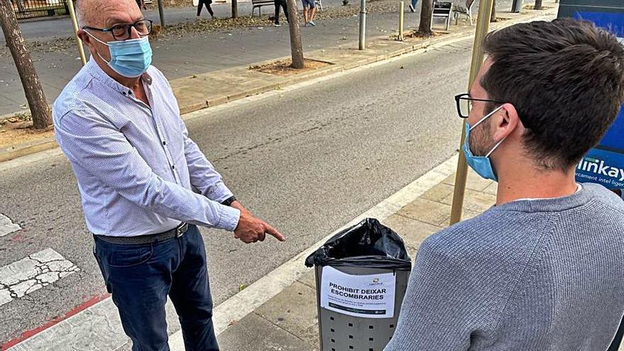 Salt inicia una campanya per evitar abocaments incívics a les paperes