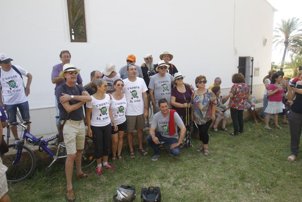 Acto de protesta contra la ampliación de la V-21